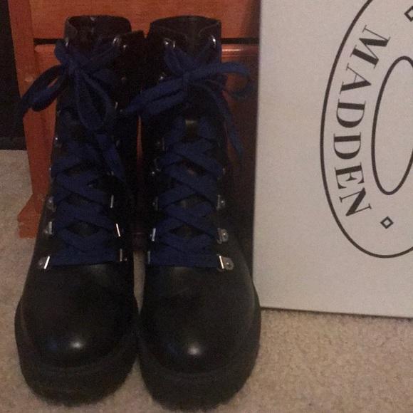 e1a7ae296a7 Steve Madden Royce Black Leather Boots. M 5c6cca66c9bf50108e965b3b